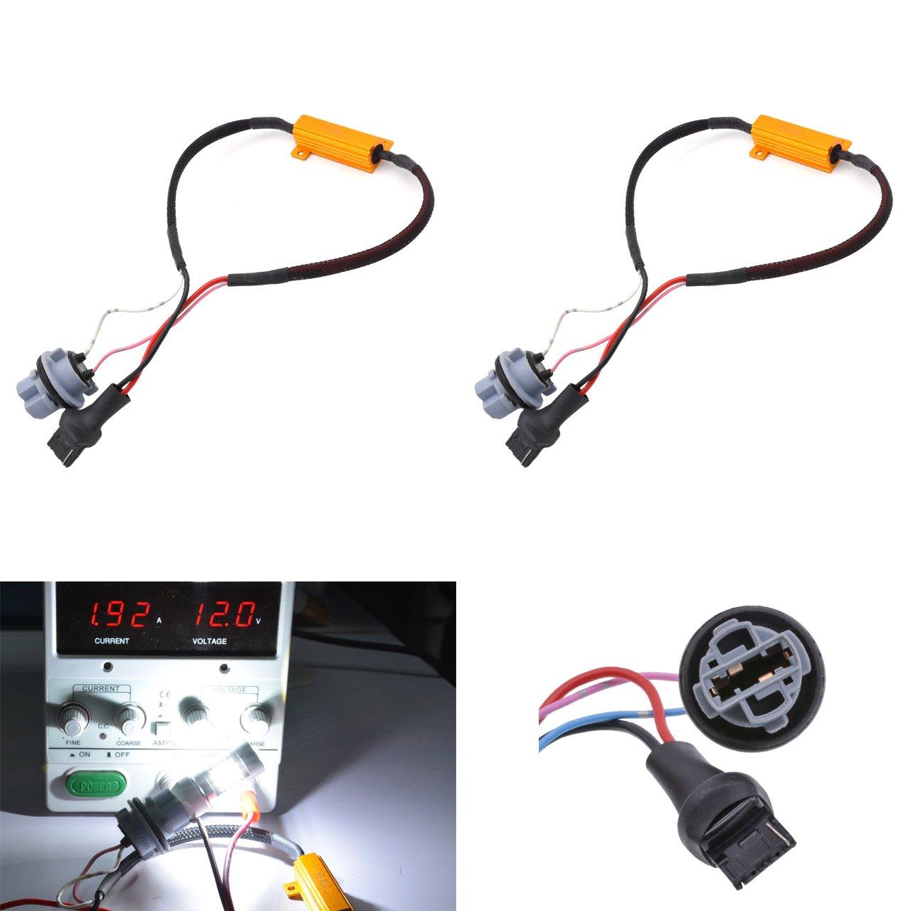 KaTur 2pcs 50W 8ohm 7440 7440NA 7441 992 Led Load Resistors - Fix LED Bulb Fast Hyper Flash for LED Turn Signal Light Blink or LED License Plate Lights Error by KaTur
