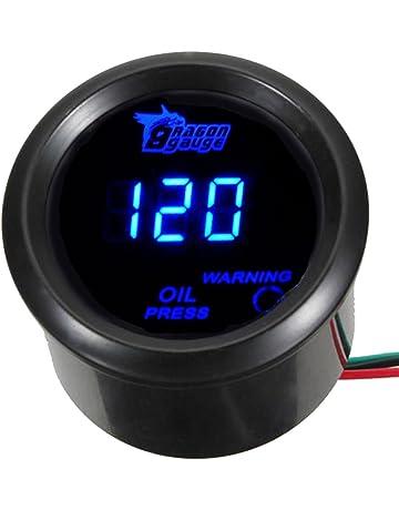 EBTOOLS Instrumento de Coche Turbo Boost Gauge Medidor de Indicador PSI Universal Turbo Boost PSI de 12 pulgadas LED 12V