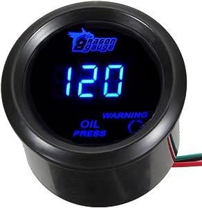 """ESUPPORT Car 2"""" 52mm Digital Oil Press Pressure Gauge Blue LED"""