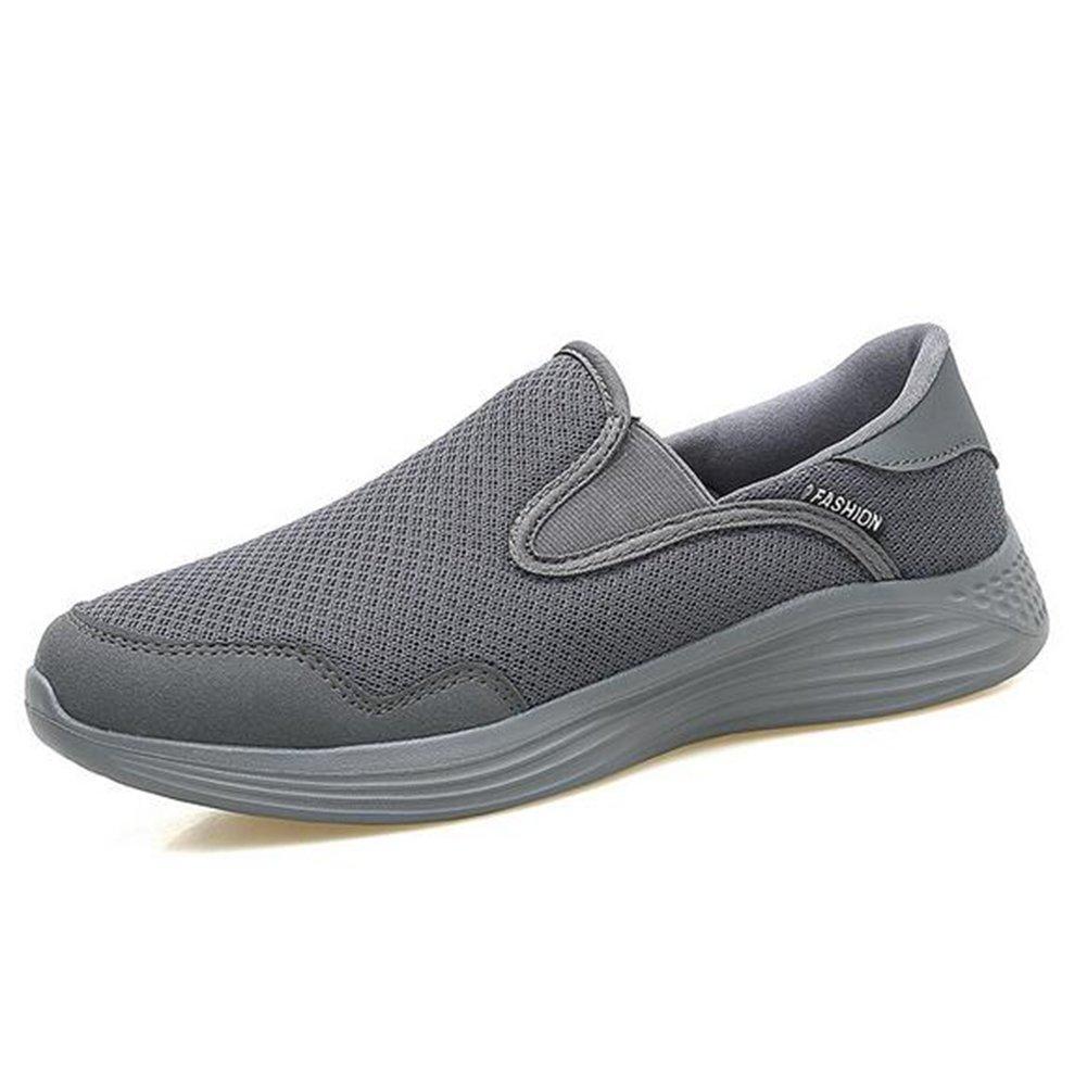 Zapatos de mujer de malla primavera verano otoño alpargatas pisos zapatos de caminar tacón plano de mediana edad y vieja entresuela de la PU zapatos casuales (Color : 04, tamaño : 35) 35|04