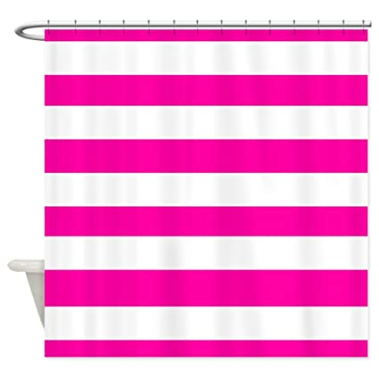 Image Unavailable Not Available For Color CafePress Pink And White Stripes Shower Curtain