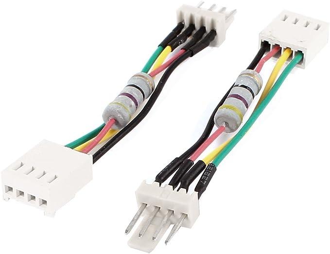 2 PC PC PWM de velocidad del ventilador reducir el ruido de 4 ...