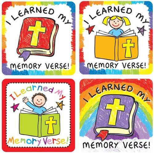 I Learned My Memory Verse I Stickers Stickers [並行輸入品] Learned B018J4446O, テントシートの職人工房:40597597 --- 2017.goldenesbrett.net