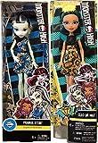 lalaloopsy gem dolls - Monsterrific Dolls Cleo De Nile Daughter of Mummy in Pop Dress Freaky Fabulous Scary Bundled with Frankie Stein Girl in Skull Print Dress 2 Item Pack Bundle