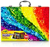 Toys : Crayola 140 Count Art Set, Rainbow Inspiration Art Case, Gifts for Kids, Age 4, 5, 6