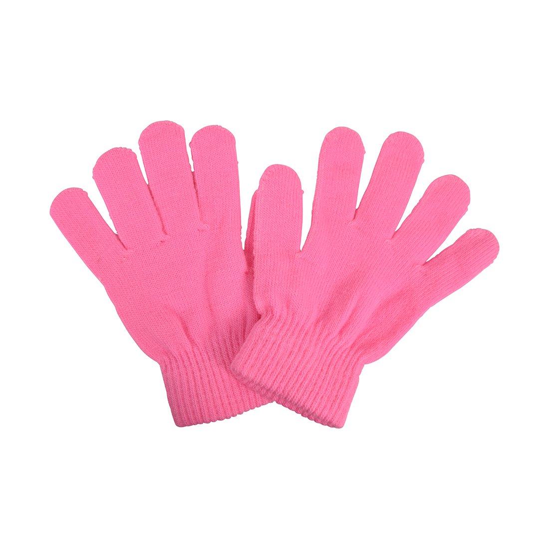 Big Kids Gloves Magic Knit Gloves unisex Solid Colors MTGL0030PK