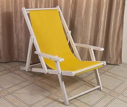 ZJM-tumbona Silla de Playa Plegable de Madera Silla de ...