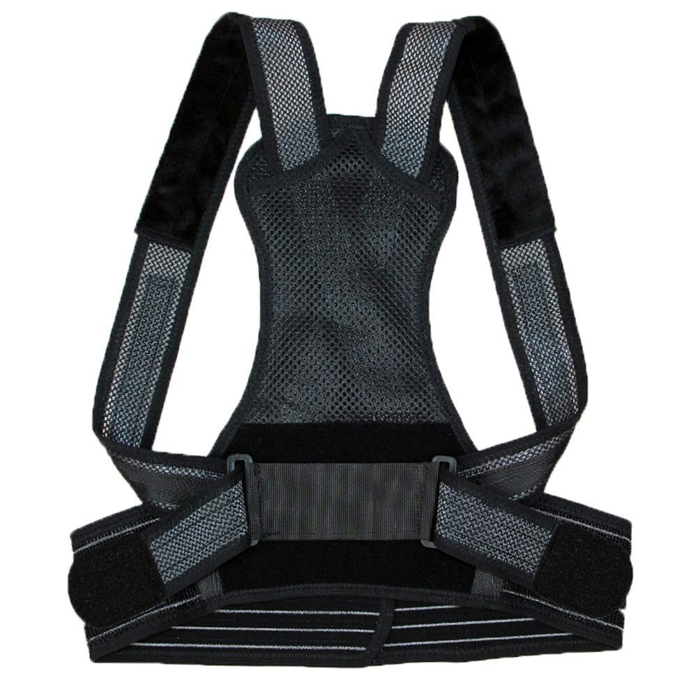 Corrector de postura Posture Corrector, Support Brace for Back Shoulder Shape The Perfect Body Neck Pain Relief Clavicle Physiotherapy Supplies-Black (Size : S54-64cm)