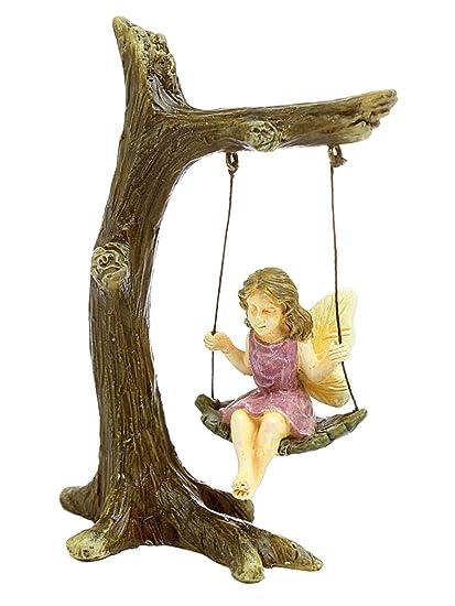 Marshall Home And Garden U0026quot;Tree Swingu0026quot; Miniature Fairy Garden ...