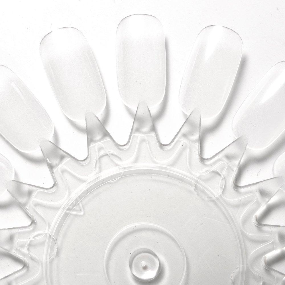 10x clear false nail art tips polish display wheel for practice 10x clear false nail art tips polish display wheel for practice nail salon amazon beauty prinsesfo Image collections