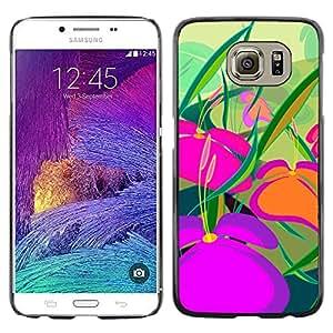 El Majestic Tierras del Interior - Metal de aluminio y de plástico duro Caja del teléfono - Negro - Samsung Galaxy S6