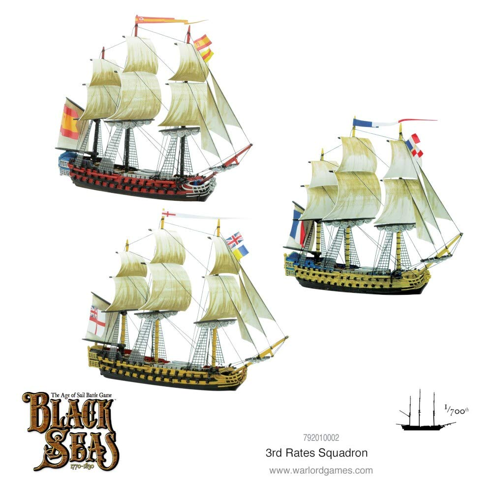 1770-1830 Black Seas 3rd Rates Squadron Warlord Games