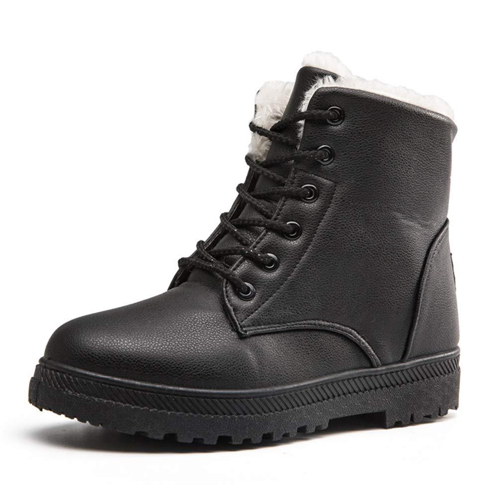 Winter Snow Boots Women Warm Plus Velvet Cotton Shoes Short Boots Waterproof Martin Boots Women 36 Black by AAU