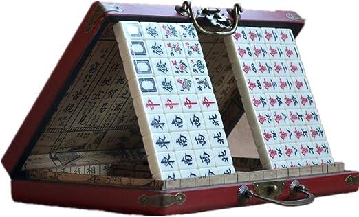MICROSHE Tradición China Mahjong Regalos Información portátil Mahjong Retro Caja China Tradicional Fiesta de la Familia Mahjong Información Tabla China con la Caja: Amazon.es: Hogar