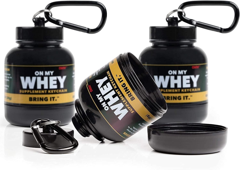 Onmywhey-portable de protéines et Supplément Poudre Entonnoir Porte-clés-Moderne 3-Pack