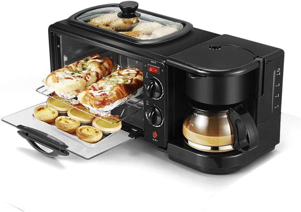 WXH Máquinas de panificación 3 en 1, máquina de Desayuno, cafetera eléctrica multifunción, sartén, Mini Horno, Horno ...