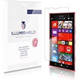 iLLumiShield – Nokia Lumia 1520 Screen Protector Japanese Ultra Clear HD Film with Anti-Bubble and Anti-Fingerprint – High Quality (Invisible) LCD Shield – Lifetime Replacement Warranty – [3-Pack] OEM / Retail Packaging