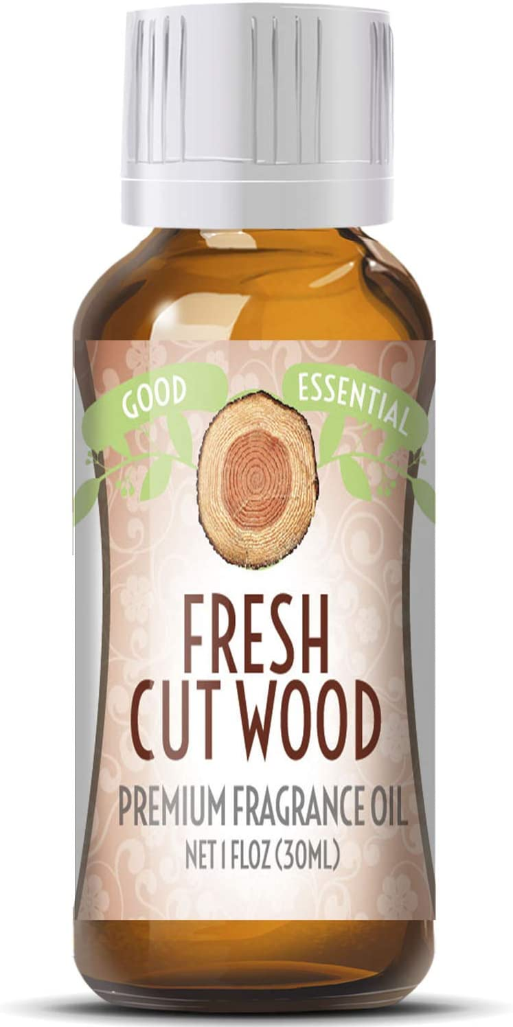 Fresh Cut Wood Scented Oil by Good Essential (Huge 1oz Bottle - Premium Grade Fragrance Oil) - Perfect for Aromatherapy, Soaps, Candles, Slime, Lotions, and More!