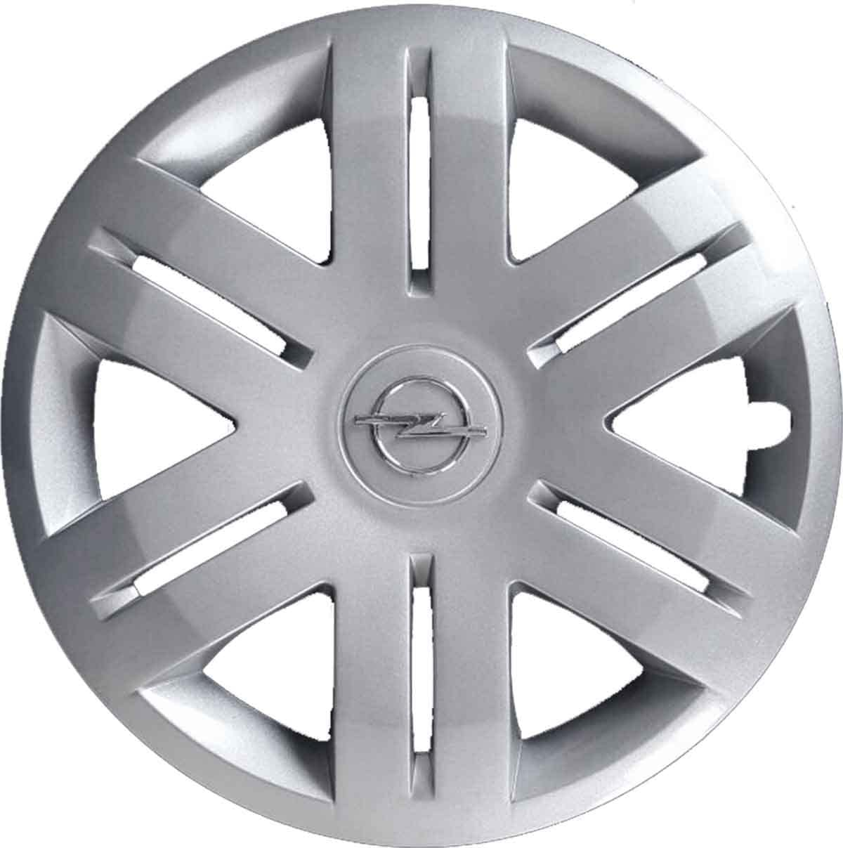 Generico Opel VIVARO COPRICERCHIO BORCHIA Quattro cod 4 5912//6 Diametro 16 Logo Cromato