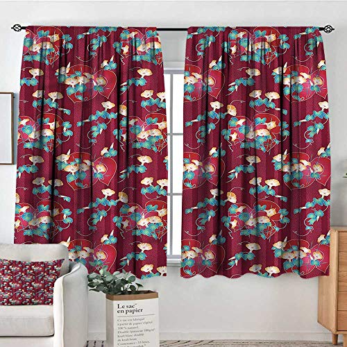(Anzhutwelve Japanese,Bocking Ight Rod Curtains Floral Arrangement Asian 52