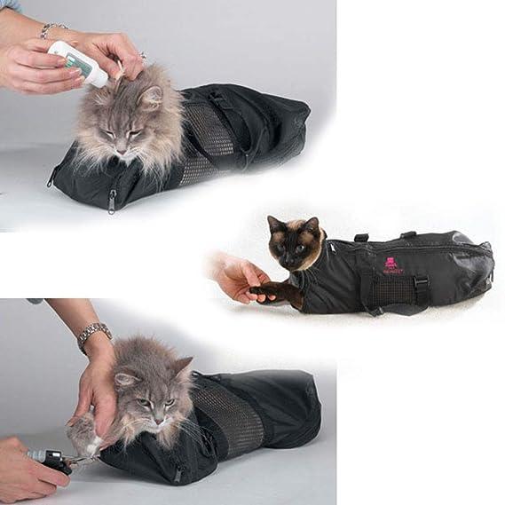 Mascota Bolsa de Aseo, Bolsa de contención Gato Plegable portátil ...
