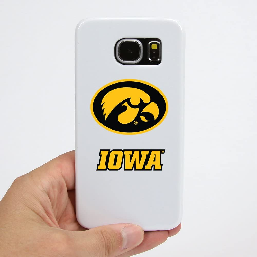 Guard Dog Iowa Hawkeyes Clear Hybrid Case for Samsung Galaxy S7 with Black Insert and Guard Glass Screen Protector