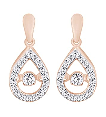 lagrimas zoom zirconia plated loading pendientes made en earrings drop of solitario silver sterling pear and gold