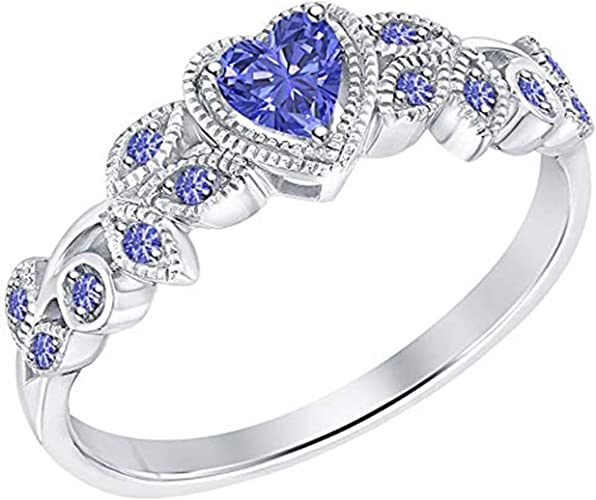 Engagement Wedding Ring 14K White Gold Fn Alloy /& Simulated Diamond Studded Jewellery