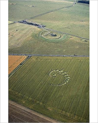 10x8 Print of Stonehenge and crop circle N960002 (Stonehenge Crop Circle)