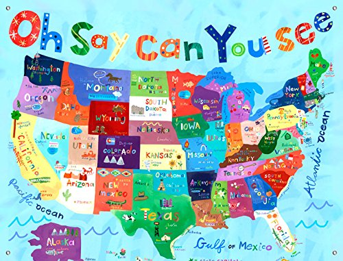 Oopsy Daisy Murals - Oopsy Daisy Canvas Wall Murals Oh Say Can You See by Jill McDonald, 42 by 32-Inch