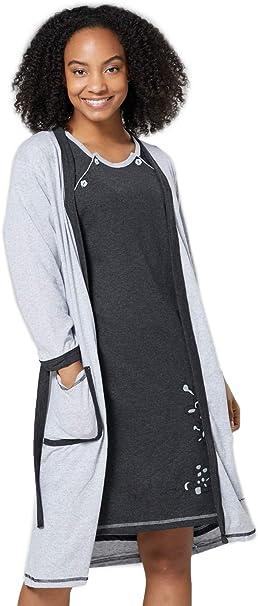 HAPPY MAMA Para Mujer Set Camisón Bata Premamá Embarazo Lactancia 1165: Amazon.es: Ropa y accesorios