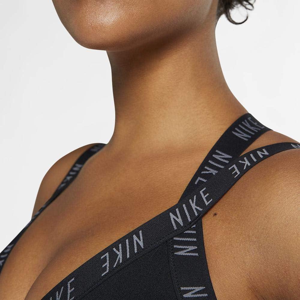 Nike Indy Logo Bra Soutien-Gorge de Sport Femme Black/Black/Cool Grey