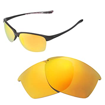 93d9214faf Walleva Replacement Lenses for Oakley Unstoppable Sunglasses - Multiple  Options Available (24K Gold Mirror Coated