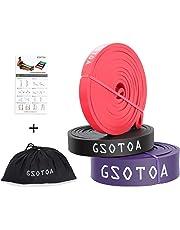 GSOTOA Bandas de Resistencia Kit Fitness para Bandas Elásticas Unisexo para Musculación, Yoga, Crossfit
