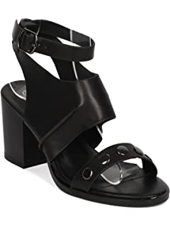 fbc7d261168 Nature Breeze Women Leatherette Studded Ankle Strap Chunky Heel Sandal GH23