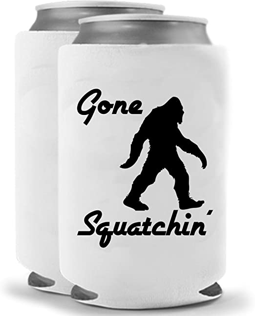 Funny Guy Mugs Gone Squatchin Collapsible Neoprene Can Coolie Drink Cooler
