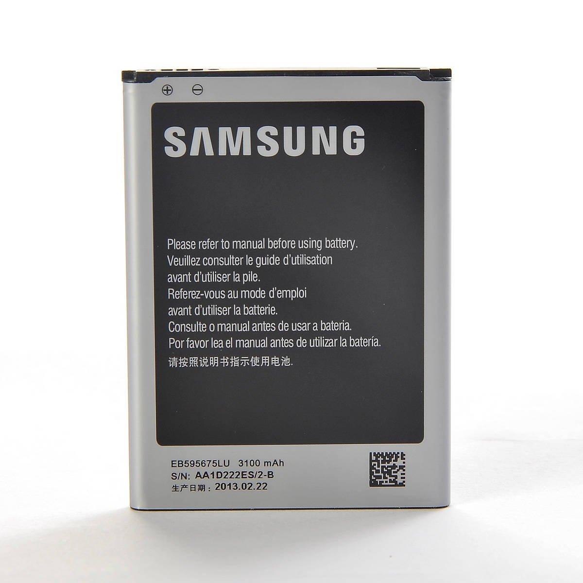 Bateria Celular Samsung Galaxy Note 2 N7100 Lithium Phone 3100mAh EB595675LU Non Retail Packaging Silver