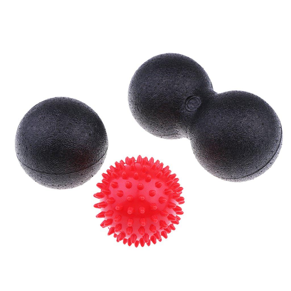 Baosity Lightweight Massage Ball Set Lacrosse Ball, Spiky Ball, Double Peanut Ball