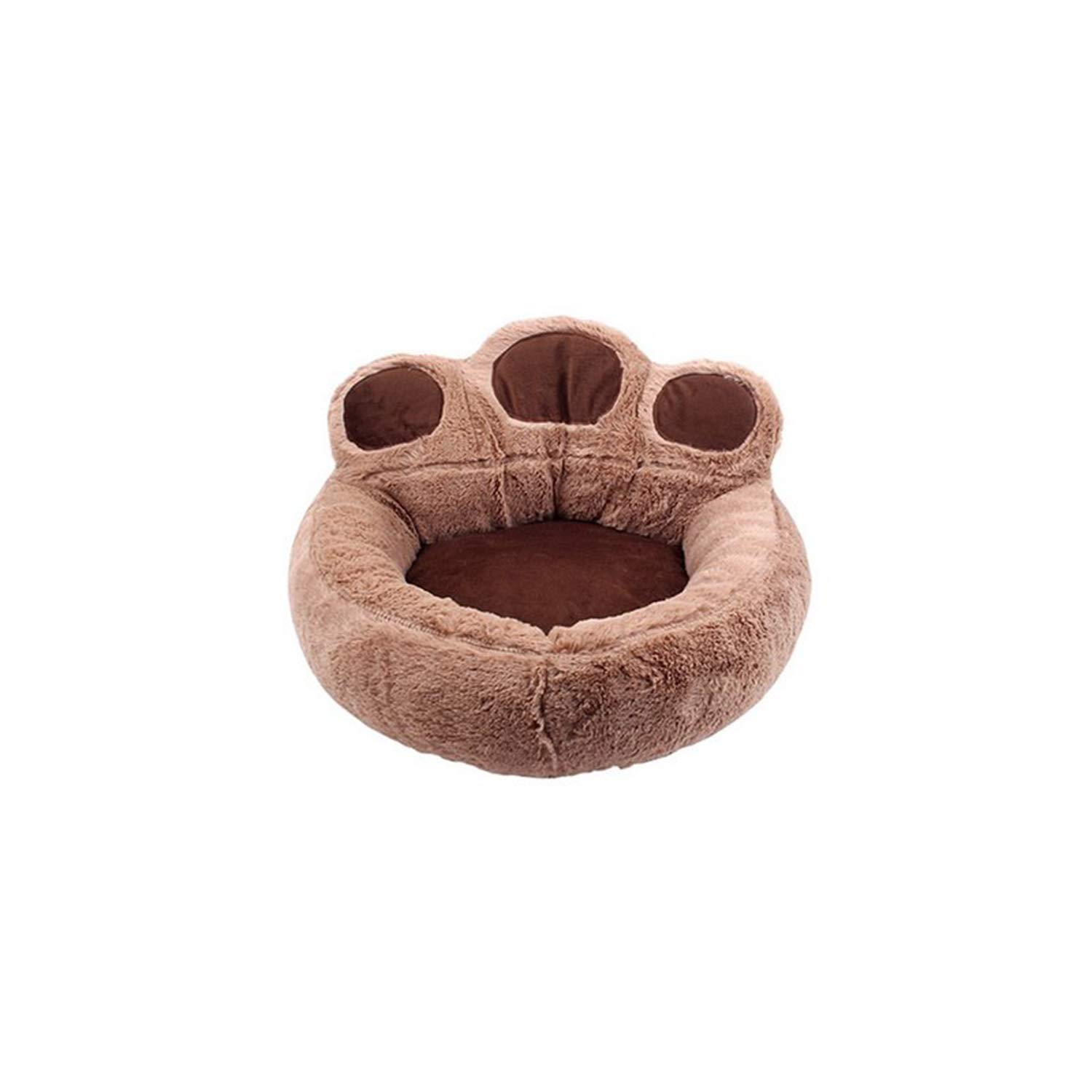 Brown M Brown M PETFDH Soft Bed & Sofa Nest Dog Baskets Fall Winter Kennel Pet Dog Bed Warm Cotton Dog House for Cat Puppy Pets Drop Shipping Brown M