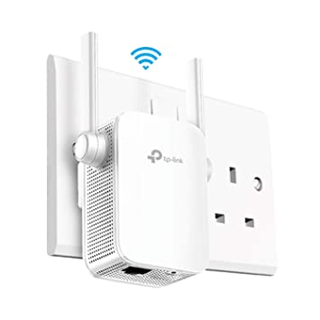 TP-Link AC1200 Universal Dual Band Range Extender, Broadband/Wi-Fi  Extender, Wi-Fi Booster/Hotspot with 1 Ethernet Port and 2 External  Antennas,