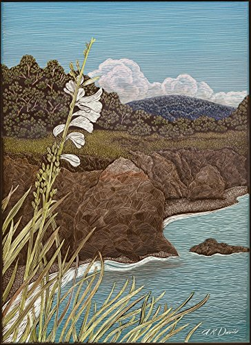 """""""A White Flower on Coast"""" Limited Edition Print"""