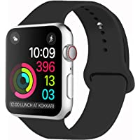 iDon Smart Watch Sport Band, Soft Silicone Replacement Sports Band compatible for iWatch Apple Watch Band Series 3/2/1, Apple Watch 38mm/42mm  All Models