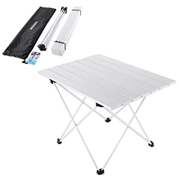 Exceptional Yahill Aluminum Folding Collapsible Camping Table Roll Up 3 Size With  Carrying Bag For Indoor And