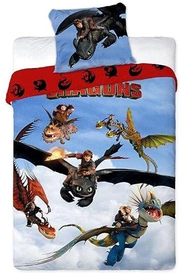 Unbekannt Faro Dragons Kinderbettwäsche Bettwäsche 160x200cm