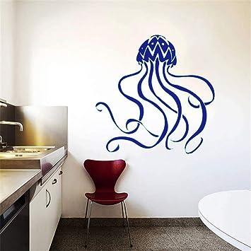 Deep Sea Marine Animals Tatuajes de pared Medusa Patrón Arte ...
