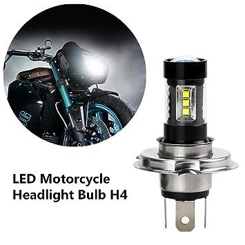 FEZZ 1500LM Bombilla LED de Faro Motocicletas Luz Delantera Hi Lo Beam, 80W Blanco para
