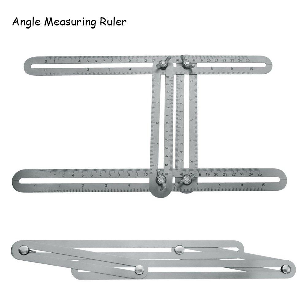 Multi-Angle Winkelschablone Alu Vierseitig Lineal Zollstock Schablone Messgerät