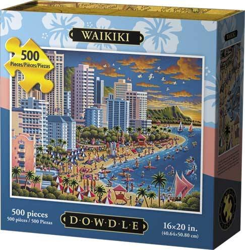 Dowdle Folk Art Puzzles - Waikiki Puzzle, 500 Pieces
