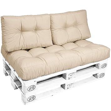 Beautissu Euro Pallet Cushions Eco Style 2x Pallet Furniture