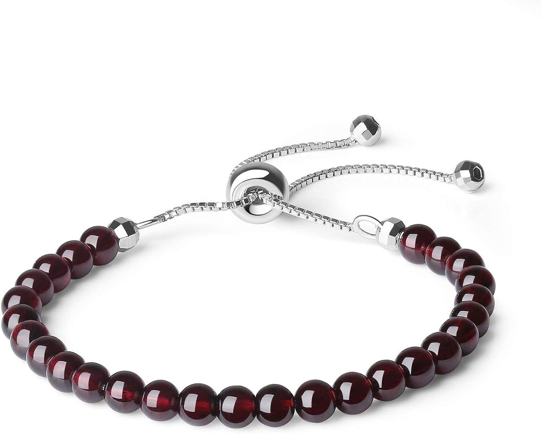 coai Bracelet Femme Pierres V/éritables R/églable Argent 925